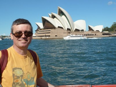 Me sailing past the Sydney Opera House