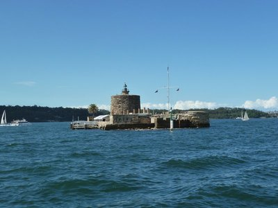 Fort Denison in the middle of Sydney Harbour