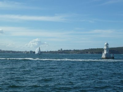 Looking beyond Watson Bay towards the Ocean