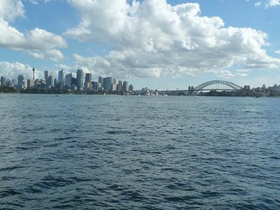 Looking towards Sydney on the way back from Watson Bay
