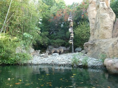 View ashore from the Jungle Cruise in Adventureland - how old is this ride?