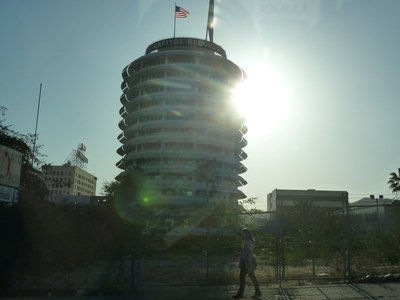 The Capital Records Tower in Hollywood