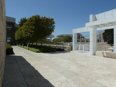 Looking back to the Museum Entrance and across the Plaza to the Research Institute from the North and East Buildings