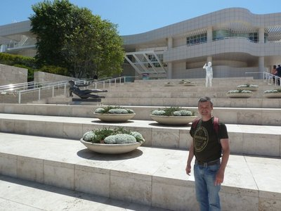 Me at the bottom of the Arrival Plaza up to the Museum Entrance