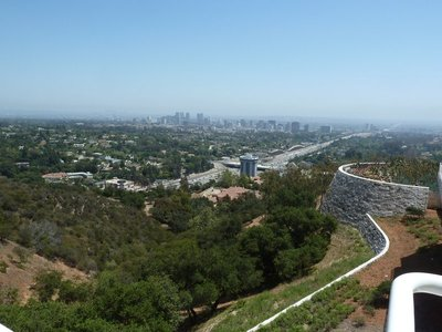 The view south from the South Pavilion of Century City and the Interstate 405