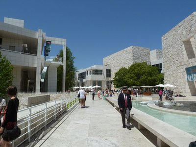Looking across the Museum Courtyard from the West Pavilion