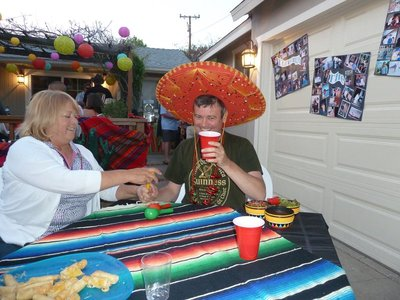 Mexican themed party time and I'm asked to don a Sombrero!