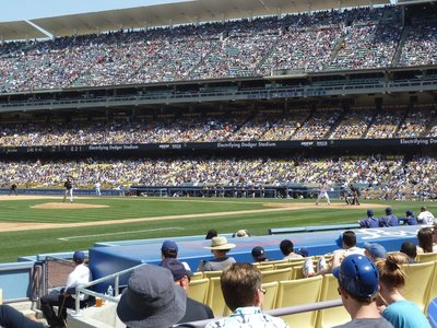 It's the Milwaukee Brewers turn to pitch at the LA Dodgers