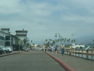 Looking back along Santa Barbara Pier