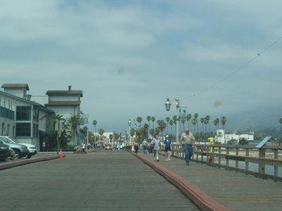 Looking back along Santa Barbara Pier