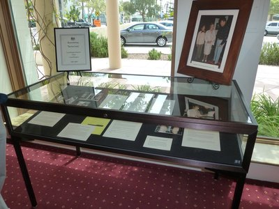 Tribute case to Margaret Thatcher in the Reagan Ranch Center