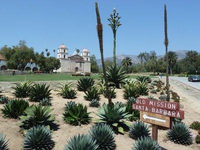 My first view of the Mission at Santa Barbara