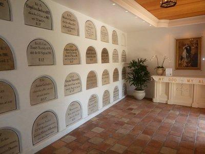 The historic Mausoleum within Santa Barbara Mission