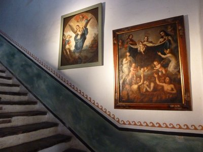 Paintings on a Staircase at the Old Santa Barbara Mission