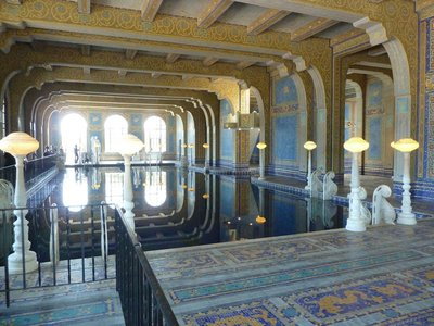 The indoor Roman Pool at Hearst Castle
