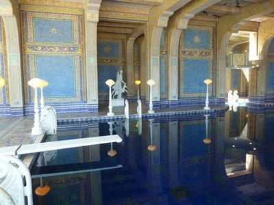 The Roman Pool's diving board at Hearst Castle