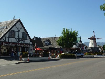 Classic street view of Solvang