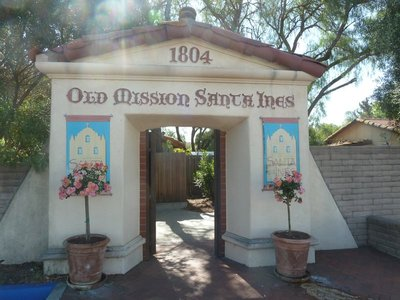 Entrance to the Old Mission in Solvang