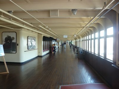 The outside Promenade Deck on the Queen Mary