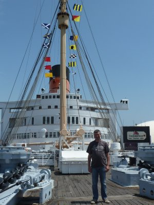 Me on the Forward Deck of the Queen Mary