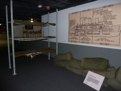 Ship Plan and Bunks as used during WWII