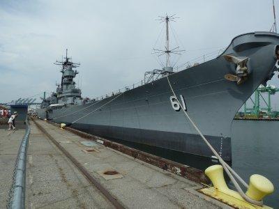 USS Iowa (BB-61) at San Pedro