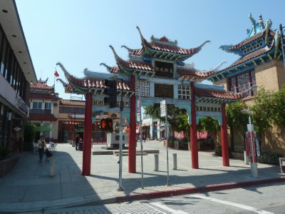 New Chinatown's Gate of Filial Piety and Central Plaza Square