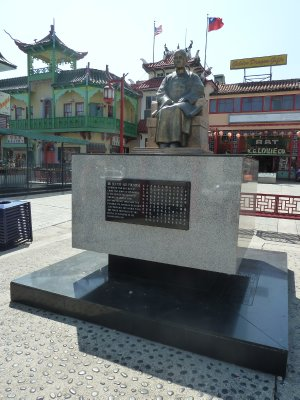 Statute of Sun Yat-sen in the square of Chinatown's Central Plaza