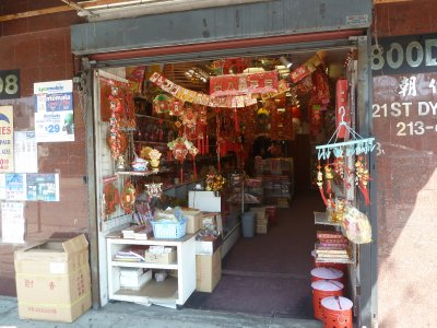 A typical shop in Chinatown