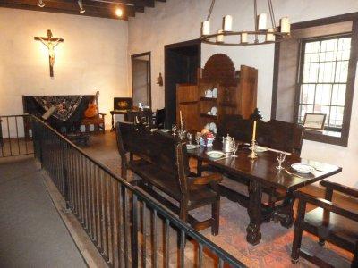 The family room in the Avila Adobe where regular meals were eaten