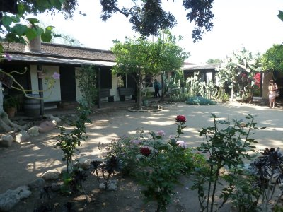 The courtyard fo the Avila Adobe