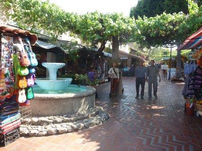 The fountain on Olvera Street