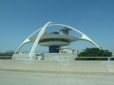 The googie style 'Theme Building' at Los Angeles International Airport (LAX)