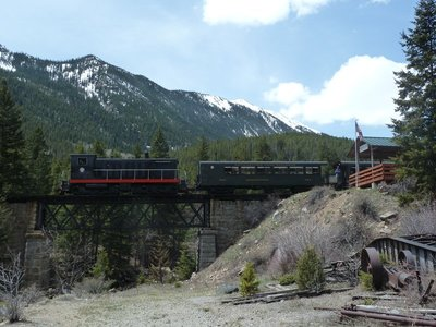 Our train stopped at the little halt for the Lebanon Silver Mine