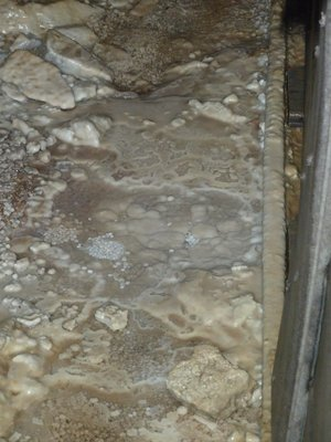 Naturally occuring 'Silver Pearls' on the mine floor