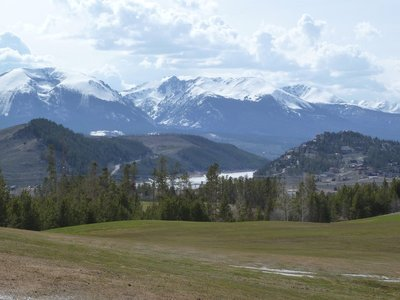 Lake surrounded by mountains in Summit County, Colorado