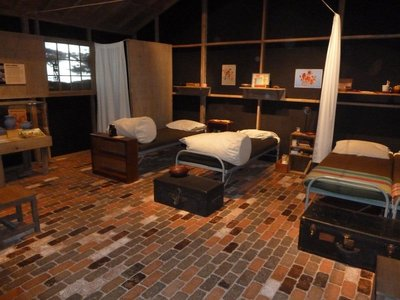 Re-creation inside 'Colorado Stories' of a WWII relocation center for people of Japanese ancestry