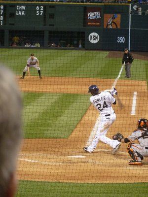Dexter Fowler at the plate for the Colorado Rockies