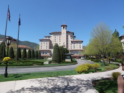 The main building at the Broadmoor Hotel in Colorado Springs
