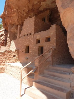 One of the houses at the Manitou Cliff Dwellings