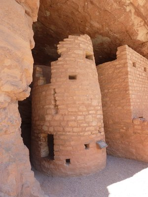 Stone tower at the Manitou Cliff Dwellings