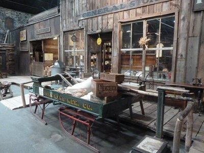 Blacksmith's Shop and General Store in the Ghost Town Museum in Colorado Springs