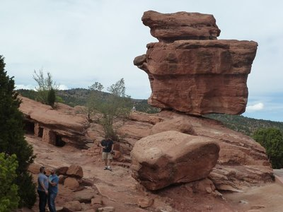 The famous 'Balanced Rock' at the Garden of the Gods