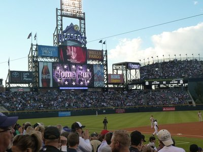 Another Home Run for the Rockies - perhaps I am a lucky charm at the baseball after all?