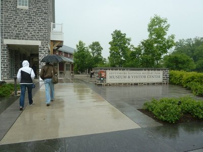 The day started pretty wet when we went to visit Gettysburg