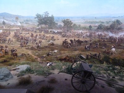 Cyclorama - looking south west at the highwater mark of the Confederate advance (note the gun carriage in the foreground to give a 3D effect)