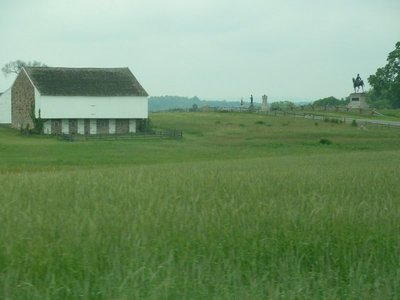 McPherson Farm north west of Gettysburg - scene of heavy fighting on the first day