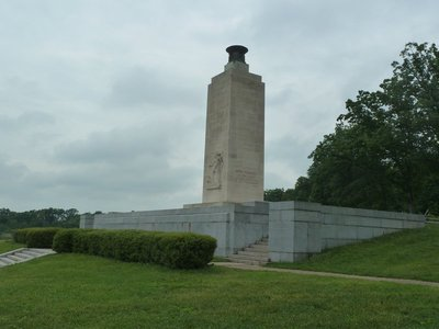 The Eternal Light Peace Memorial - dedicated by President Franklin D Roosevelt on the 75th anniversary of the battle in 1938