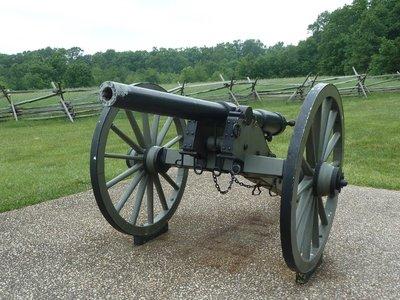 Parrott Gun from the battle by the Eternal Light Peace Memorial