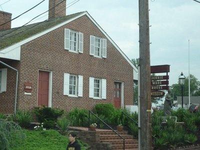 Jennie Wade's house in Gettysburg, the only civilian killed by a stray bullet during the battle